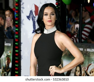 Katy Perry at the Los Angeles premiere of 'Office Christmas Party' held at the Regency Village Theatre in Westwood, USA on December 7, 2016.