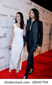 Katy Perry, wearing a Hussein Chalayan gown,, Russell Brand at The Art of Elysium's Annual HEAVEN Gala, 9900 Wilshire Blvd, Beverly Hills, CA January 16, 2010