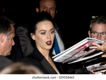 "Katy Perry at the World Premiere Of EPIX's ""Katy Perry: The Prismatic World Tour"" held at the Ace Hotel Theater in Los Angeles, USA on March 26, 2015."