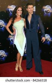 Katya Virshilas and Pasha Kovalev  arriving for the 2011 Strictly Come Dancing Launch, at the BBC Centre, London. 07/09/2011 Picture by: Alexandra Glen / Featureflash