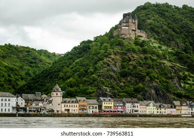 Katz Castle and St. Goarshausen, Germany