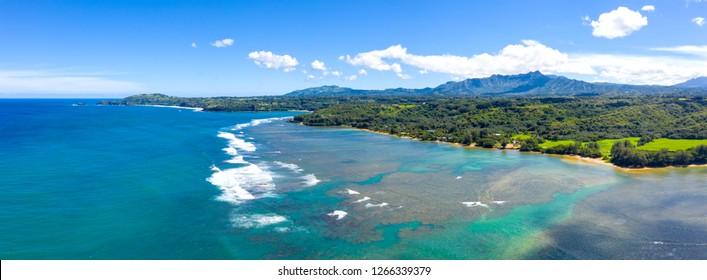 Kauai Coast Tropical Island Hawaii View Panoramic