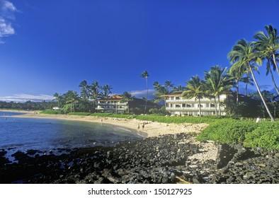 KAUAI, HAWAII - CIRCA 1990'S: Hanapepe Bay Resort Hotel, Kauai, Hawaii
