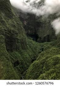 Kauai, Hawaii: fog descends into the mountain valley