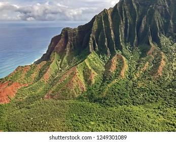 Kauai, Hawaii: Gorgeous Napali Coast along the Pacific Ocean