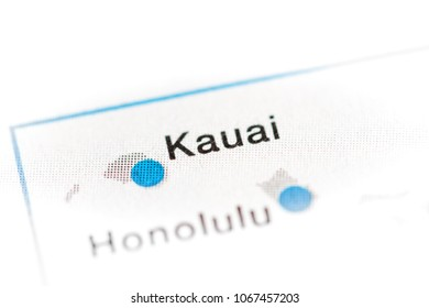 Kauai map images stock photos vectors shutterstock kauai hawaii usa on a map reheart Image collections