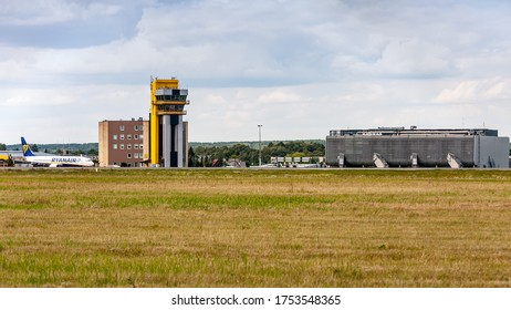 Kaunas International Airport, Kaunas / Lithuania - 2019.07.18: Civil airport in Lithuania after and the fourth-busiest in the Baltic.