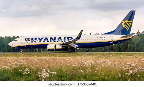 Kaunas International Airport, Kaunas / Lithuania - 2019.07.18: EI-GJS Boeing 737-8AS - Ryanair Airways