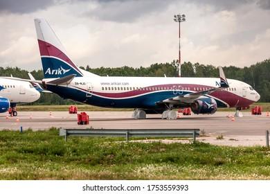 Kaunas International Airport, Kaunas / Lithuania - 2019.07.18: 5N-MJO - Boeing 737-86N - Arik Air (Nigerian airline operator)