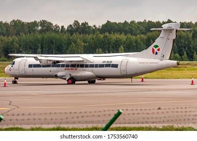 Kaunas International Airport, Kaunas / Lithuania - 2019.07.18: OY-RUD Danish Air Transport (DAT) ATR 72-201 Cargo