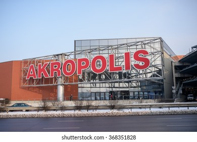 KAUNAS - JANUARY 20, 2016: AKROPOLIS shopping centre in Kaunas, Lithuania.It is a leading shopping centre developer in Lithuania.
