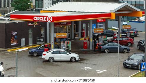 KAUNAS, LITHUANIA - OCTOBER 27, 2017: Circle K Gas Station in Kaunas.