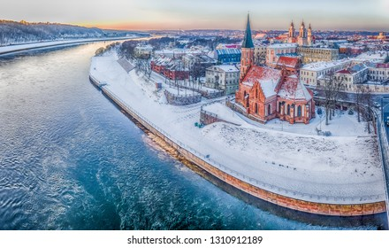 Kaunas old  city in winter time