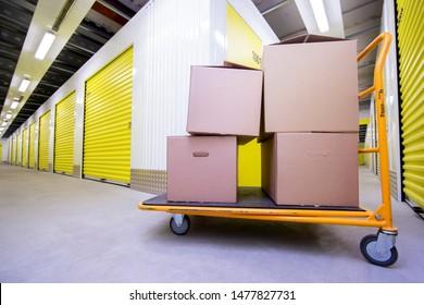 Kaunas/Lithuania August 13, 2019 Self Storage Facility