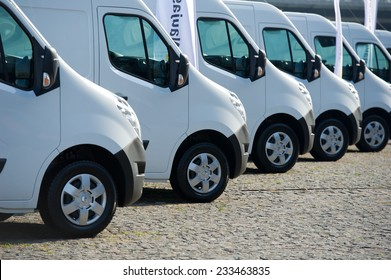 KAUNAS-SEP 19: Renault Master (third generation) on display on Sep. 19, 2014 in Kaunas, Lithuania. The Renault Master is an upper-medium size van produced by the French manufacturer Renault since 1980