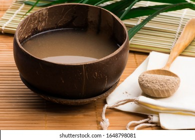 Kava drink made from the roots of the kava plant mixed with water - Shutterstock ID 1648798081