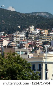 KAVALA, GREECE - JUNE 17, 2011: Panoramic view to center of city of Kavala, East Macedonia and Thrace, Greece