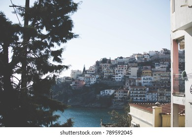 Kavala view from a stair street