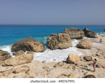 Kavalikefta beach in Lefkada Greece