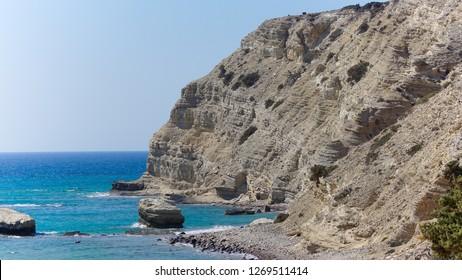 Kavo paradisio Kos island cliff and Beach