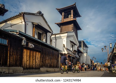 Kawagoe, Japan. 08-12-2017. Bell tower in the Kurazukuri district of Kawagoe - Saitama Prefecture