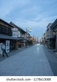 Kawagoe/Japan - August 10 2018: Saitama-ken avenue in Kawagoe. Kawagoe is a city in Saitama Prefecture, Japan.