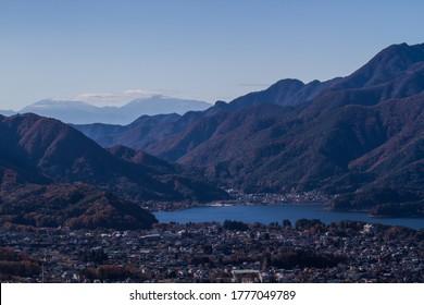 Kawaguchiko lake view from the top of Mt.Kachi Kachi.