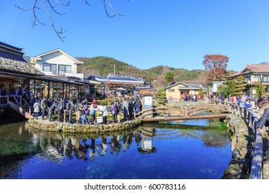 KAWAGUCHIKO - MAR,15 : Oshino Hakkai is a touristy set of eight ponds in Oshino, a small village in the Fuji Five Lake region.The eight ponds are fed by snow melt from Mount Fuji .JAPAN MAR,15 2017