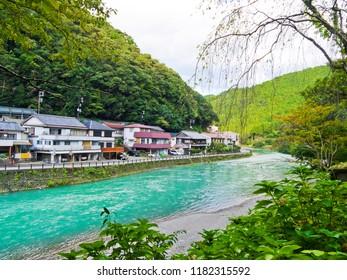 Kawayu Onsen in Wakayama Prefecture, Japan.