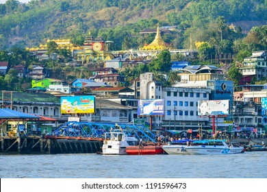 KAWTHAUNG, MYANMAR - March 6, 2018 : Kawthaung or Victoria Point, Kawthaung is a territory in the Union of Myanmar. Which is opposite to Ranong Thailand