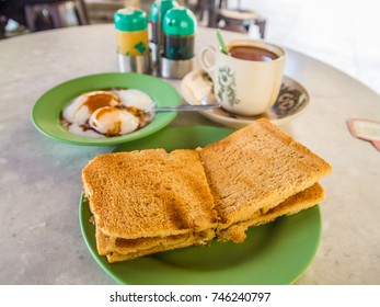 Kaya toast, well-known snack in Singapore and Malaysia
