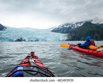 Kayak to Ailik Glacier, Kenai Fjords Mational Park, Seward, Alaska