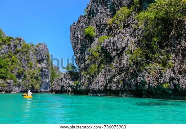 Kayak Big Lagoon El Nido Palawan Stock Photo Edit Now