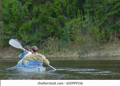 Kayak, forest river green forest