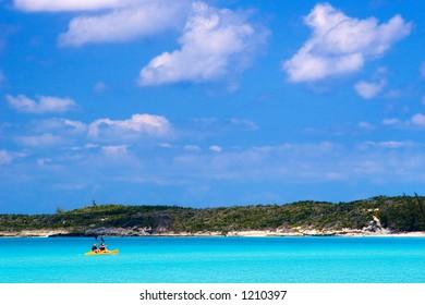 Kayak in Half Moon Cay