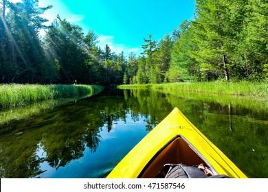 Kayak ride in the Crystal River at Sleeping Bear Dunes National Lakeshore
