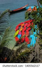 Kayak sea nuture forest thailand