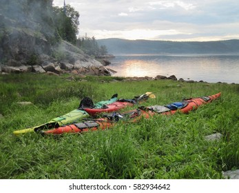Kayak-camping in the Saguenay Fjord (Quebec, Canada)