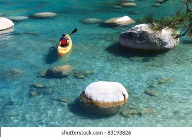 kayaker, Lake Tahoe