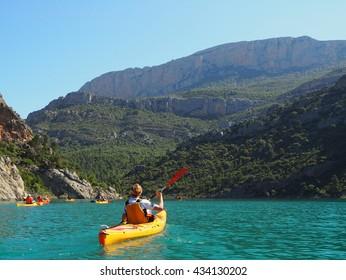 Kayakers in Spain