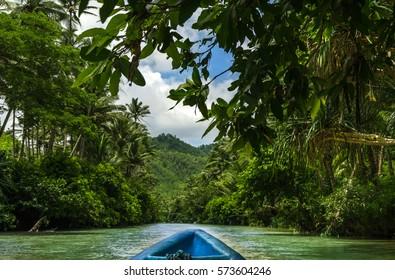 Kayaking adventure at Maron River near Pacitan - east Java, Indonesia
