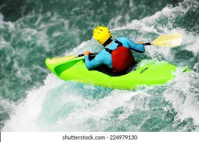 Kayaking, extreme fall