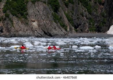 Kayaking in the Kenai Fjords National Park in Alaska