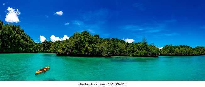 Kayaking in the Lau Islands in Fiji