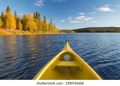 Kayaking on a quiet lake in Sweden