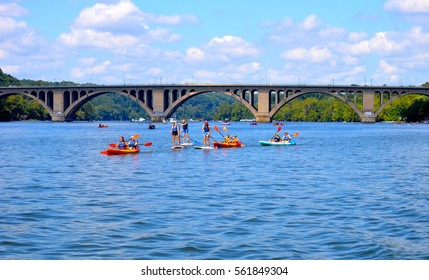 Kayaking and Paddle Boarding along the Potomac River