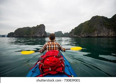 kayaking in the sea, outdoor activities, kayak rental