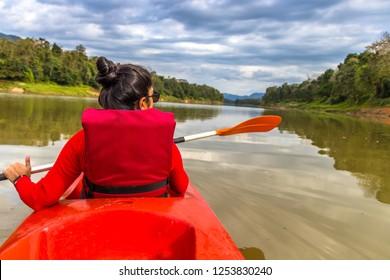 Kayaking at Thattekad, Kerala