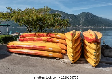 Kayaks ready to rent