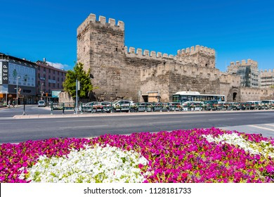 Kayseri, Turkey - July 05, 2018 : Kayseri Castle view in Kayseri City of Turkey.
